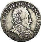 Photo numismatique  ARCHIVES VENTE 2017-7 juin - Coll Fr. Beau Fr. BEAU - ROYALES FRANCAISES FRANCOIS II (10 juillet 1559-5 décembre 1560) Monnayage au type de Henri II 50 Teston du 3ème type, La Rochelle, 1559.