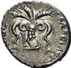 Photo numismatique  ARCHIVES VENTE 2017-7 juin - Coll Fr. Beau RÉPUBLIQUE ROMAINE POMPÉE LE JEUNE (97-35)  260- Sextus Pompeius Magnus. Denier, Sicile, (42-40).