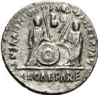 Photo numismatique  VENTE 7 juin 2017 - Coll Fr. Beau et divers EMPIRE ROMAIN OCTAVE-AUGUSTE. (Empereur en 29 - Auguste 27 av.-14 ap. JC)  264 Denier, Lyon, (2 avant J.C.-4 (?) après J.C.).