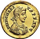 Photo numismatique  ARCHIVES VENTE 2017-7 juin - Coll Fr. Beau EMPIRE ROMAIN HONORIUS (393-423)  300 Solidus, Milan, 394/395.