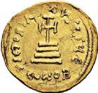 Photo numismatique  VENTE 7 juin 2017 - Coll Fr. Beau et divers EMPIRE BYZANTIN HERACLIUS et HERACLIUS CONSTANTIN (613-638)  304 Solidus, Constantinople, officine E.