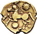 Photo numismatique  VENTE 7 juin 2017 - Coll Fr. Beau et divers GAULE - CELTES BELLOVAQUES (région de Beauvais)  307 Statère d'or (vers 60-30/25).