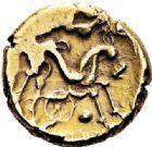 Photo numismatique  VENTE 7 juin 2017 - Coll Fr. Beau et divers GAULE - CELTES SUESSIONES (région de Soissons)  308 Statère d'or, (vers 60/50).