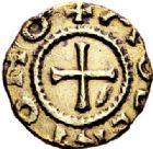 Photo numismatique  ARCHIVES VENTE 2017-7 juin - Coll Fr. Beau PEUPLES BARBARES MEROVINGIENS CITES BLOND (Haute-Vienne).  310 Triens en fourré au nom de Molento.