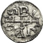Photo numismatique  ARCHIVES VENTE 2017-7 juin - Coll Fr. Beau CAROLINGIENS LOUIS LE PIEUX, empereur (janvier 814-20 juin 840)  319 LOUIS LE PIEUX (814-840). Obole, Bourges
