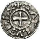 Photo numismatique  ARCHIVES VENTE 2017-7 juin - Coll Fr. Beau CAROLINGIENS CHARLES LE CHAUVE, roi (840-875)  321 Obole, Clermont-Ferrand.
