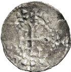 Photo numismatique  VENTE 7 juin 2017 - Coll Fr. Beau et divers CAROLINGIENS MONNAYAGE BARONNIAL DU Xème siècle HUGUES LE GRAND, Duc des Francs. (943-956) 325 Denier, Paris.