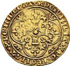 Photo numismatique  VENTE 7 juin 2017 - Coll Fr. Beau et divers ROYALES FRANCAISES CHARLES VI (16 septembre 1380-21 octobre 1422)  326 Écu d'or à la couronne, Saint-Lô.