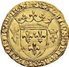 Photo numismatique  ARCHIVES VENTE 2017-7 juin - Coll Fr. Beau ROYALES FRANCAISES CHARLES VII (30 octobre 1422-22 juillet 1461)  327 Écu d'or à la couronne du 3ème type, 1ère émission (28 janvier 1436), Bourges.