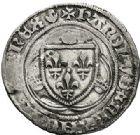 Photo numismatique  ARCHIVES VENTE 2017-7 juin - Coll Fr. Beau ROYALES FRANCAISES CHARLES VII (30 octobre 1422-22 juillet 1461)  328 Blanc à la couronne, 4ème émission, exécutoire le 26 juin 1456, Laon.