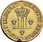 Photo numismatique  ARCHIVES VENTE 2017-7 juin - Coll Fr. Beau ROYALES FRANCAISES LOUIS XV (1er septembre 1715-10 mai 1774)  330 Louis d'or aux deux L, Nantes 1721.