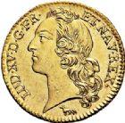 Photo numismatique  VENTE 7 juin 2017 - Coll Fr. Beau et divers ROYALES FRANCAISES LOUIS XV (1er septembre 1715-10 mai 1774)  333 Louis d'or au bandeau, Paris 1740, 1ère année de frappe.