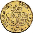 Photo numismatique  ARCHIVES VENTE 2017-7 juin - Coll Fr. Beau ROYALES FRANCAISES LOUIS XV (1er septembre 1715-10 mai 1774)  334 Louis d'or au bandeau, Paris 1753 second semestre.