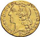 Photo numismatique  ARCHIVES VENTE 2017-7 juin - Coll Fr. Beau ROYALES FRANCAISES LOUIS XV (1er septembre 1715-10 mai 1774)  335 Demi-louis d'or au bandeau, Aix, 1742.