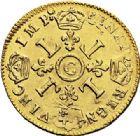 Photo numismatique  ARCHIVES VENTE 2017-7 juin - Coll Fr. Beau ATELIER DE CAEN LOUIS XIV (14 mai 1643-1er septembre 1715)  337 Louis d'or aux quatre L, 1695 C.