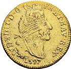 Photo numismatique  ARCHIVES VENTE 2017-7 juin - Coll Fr. Beau ATELIER DE CAEN LOUIS XIV (14 mai 1643-1er septembre 1715)  338 Louis d'or aux quatre L, 1697 C.