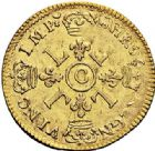 Photo numismatique  ARCHIVES VENTE 2017-7 juin - Coll Fr. Beau ATELIER DE CAEN LOUIS XIV (14 mai 1643-1er septembre 1715)  340 Louis d'or aux quatre L, 1699 C.