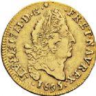 Photo numismatique  ARCHIVES VENTE 2017-7 juin - Coll Fr. Beau ATELIER DE CAEN LOUIS XIV (14 mai 1643-1er septembre 1715)  341 1/2 louis d'or aux quatre L, 1695 C.
