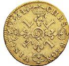 Photo numismatique  VENTE 7 juin 2017 - Coll Fr. Beau et divers ATELIER DE CAEN LOUIS XIV (14 mai 1643-1er septembre 1715)  341 1/2 louis d'or aux quatre L, 1695 C.