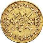 Photo numismatique  ARCHIVES VENTE 2017-7 juin - Coll Fr. Beau ATELIER DE CAEN LOUIS XIV (14 mai 1643-1er septembre 1715)  342 1/2 louis d'or aux quatre L, 1696 C.