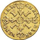 Photo numismatique  ARCHIVES VENTE 2017-7 juin - Coll Fr. Beau ATELIER DE CAEN LOUIS XIV (14 mai 1643-1er septembre 1715)  343 1/2 louis d'or aux quatre L, 1697/6 C.