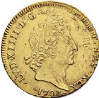Photo numismatique  ARCHIVES VENTE 2017-7 juin - Coll Fr. Beau ATELIER DE CAEN LOUIS XIV (14 mai 1643-1er septembre 1715)  346 Louis d'or aux insignes,1704/3 et sur 2, voire sur 1C.