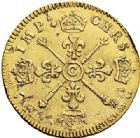 Photo numismatique  VENTE 7 juin 2017 - Coll Fr. Beau et divers ATELIER DE CAEN LOUIS XIV (14 mai 1643-1er septembre 1715)  346 Louis d'or aux insignes,1704/3 et sur 2, voire sur 1C.