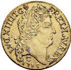 Photo numismatique  ARCHIVES VENTE 2017-7 juin - Coll Fr. Beau ATELIER DE CAEN LOUIS XIV (14 mai 1643-1er septembre 1715)  347 Faux louis d'or au soleil en argent doré 1713, C.