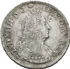 Photo numismatique  ARCHIVES VENTE 2017-7 juin - Coll Fr. Beau ATELIER DE CAEN LOUIS XIV (14 mai 1643-1er septembre 1715)  350 Écu aux palmes, 1697 C.