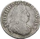 Photo numismatique  ARCHIVES VENTE 2017-7 juin - Coll Fr. Beau ATELIER DE CAEN LOUIS XIV (14 mai 1643-1er septembre 1715)  352 1/2 écu aux palmes, 1695 C.