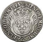 Photo numismatique  VENTE 7 juin 2017 - Coll Fr. Beau et divers ATELIER DE CAEN LOUIS XIV (14 mai 1643-1er septembre 1715)  352 1/2 écu aux palmes, 1695 C.