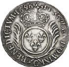 Photo numismatique  ARCHIVES VENTE 2017-7 juin - Coll Fr. Beau ATELIER DE CAEN LOUIS XIV (14 mai 1643-1er septembre 1715)  353 1/2 écu aux palmes, 1696 C.