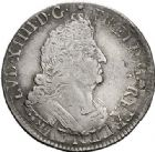 Photo numismatique  ARCHIVES VENTE 2017-7 juin - Coll Fr. Beau ATELIER DE CAEN LOUIS XIV (14 mai 1643-1er septembre 1715)  354 1/4 d'écu aux palmes, 1694 C et quadruple sol aux deux L, 1697/6 C.