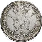 Photo numismatique  VENTE 7 juin 2017 - Coll Fr. Beau et divers ATELIER DE CAEN LOUIS XIV (14 mai 1643-1er septembre 1715)  355 Écu aux insignes, 1701 C.