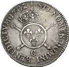Photo numismatique  VENTE 7 juin 2017 - Coll Fr. Beau et divers ATELIER DE CAEN LOUIS XIV (14 mai 1643-1er septembre 1715)  358 1/2 écu aux insignes, 1702 C.
