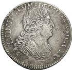 Photo numismatique  ARCHIVES VENTE 2017-7 juin - Coll Fr. Beau ATELIER DE CAEN LOUIS XIV (14 mai 1643-1er septembre 1715)  360 1/4 d'écu aux insignes, 1702 C.