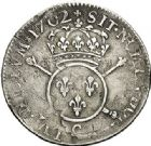 Photo numismatique  VENTE 7 juin 2017 - Coll Fr. Beau et divers ATELIER DE CAEN LOUIS XIV (14 mai 1643-1er septembre 1715)  360 1/4 d'écu aux insignes, 1702 C.