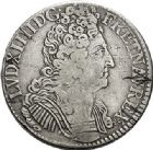 Photo numismatique  ARCHIVES VENTE 2017-7 juin - Coll Fr. Beau ATELIER DE CAEN LOUIS XIV (14 mai 1643-1er septembre 1715)  367 Écu aux trois couronnes, 1709 C.