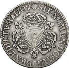 Photo numismatique  VENTE 7 juin 2017 - Coll Fr. Beau et divers ATELIER DE CAEN LOUIS XIV (14 mai 1643-1er septembre 1715)  367 Écu aux trois couronnes, 1709 C.