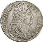 Photo numismatique  ARCHIVES VENTE 2017-7 juin - Coll Fr. Beau ATELIER DE CAEN LOUIS XIV (14 mai 1643-1er septembre 1715)  368 Écu aux trois couronnes, 1711 C.