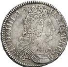 Photo numismatique  ARCHIVES VENTE 2017-7 juin - Coll Fr. Beau ATELIER DE CAEN LOUIS XIV (14 mai 1643-1er septembre 1715)  370 1/2 écu aux trois couronnes, 1709 C.