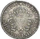 Photo numismatique  VENTE 7 juin 2017 - Coll Fr. Beau et divers ATELIER DE CAEN LOUIS XIV (14 mai 1643-1er septembre 1715)  370 1/2 écu aux trois couronnes, 1709 C.