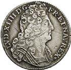 Photo numismatique  ARCHIVES VENTE 2017-7 juin - Coll Fr. Beau ATELIER DE CAEN LOUIS XIV (14 mai 1643-1er septembre 1715)  371 1/4 écu aux trois couronnes, 1710 C.