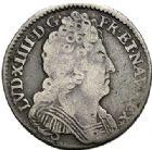 Photo numismatique  VENTE 7 juin 2017 - Coll Fr. Beau et divers ATELIER DE CAEN LOUIS XIV (14 mai 1643-1er septembre 1715)  372 1/10ème d'écu aux trois couronnes, 1710 C.