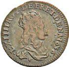 Photo numismatique  ARCHIVES VENTE 2017-7 juin - Coll Fr. Beau ATELIER DE CAEN LOUIS XIV (14 mai 1643-1er septembre 1715)  373- Lot de 2 liards.