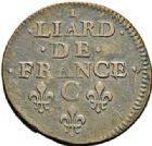 Photo numismatique  VENTE 7 juin 2017 - Coll Fr. Beau et divers ATELIER DE CAEN LOUIS XIV (14 mai 1643-1er septembre 1715)  373- Lot de 2 liards.