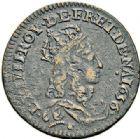 Photo numismatique  ARCHIVES VENTE 2017-7 juin - Coll Fr. Beau ATELIER DE CAEN LOUIS XIV (14 mai 1643-1er septembre 1715)  374- Lot de 3 liards.