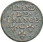 Photo numismatique  VENTE 7 juin 2017 - Coll Fr. Beau et divers ATELIER DE CAEN LOUIS XIV (14 mai 1643-1er septembre 1715)  374- Lot de 3 liards.