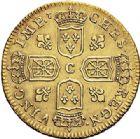 Photo numismatique  ARCHIVES VENTE 2017-7 juin - Coll Fr. Beau ATELIER DE CAEN LOUIS XV (1er septembre 1715-10 mai 1774)  375- Louis d'or de Noailles, 1718 C.