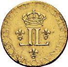 Photo numismatique  ARCHIVES VENTE 2017-7 juin - Coll Fr. Beau ATELIER DE CAEN LOUIS XV (1er septembre 1715-10 mai 1774)  376 Louis d'or aux 2 L, 1722 C.
